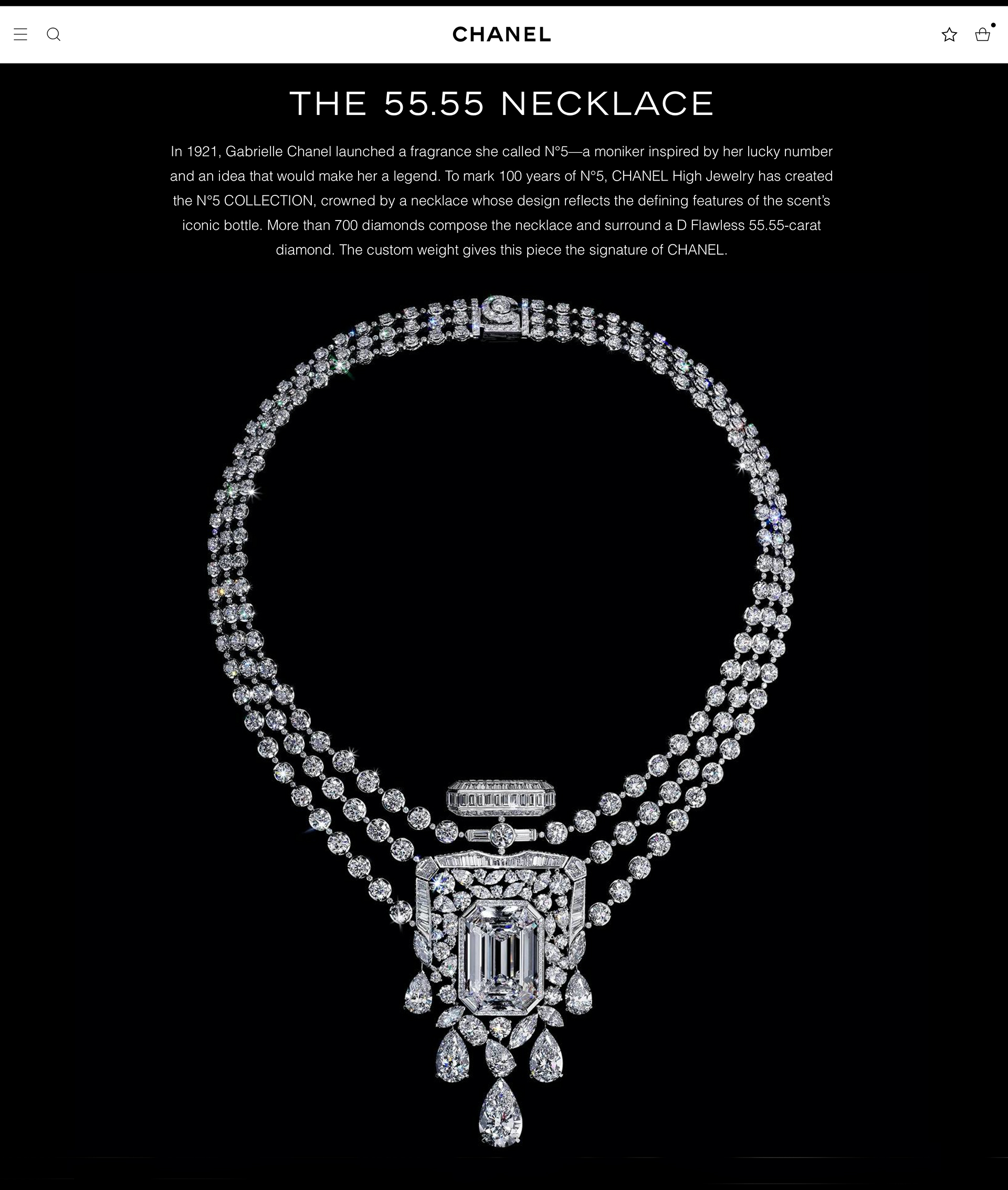 CHANEL No.5 collection necklace high jewelry